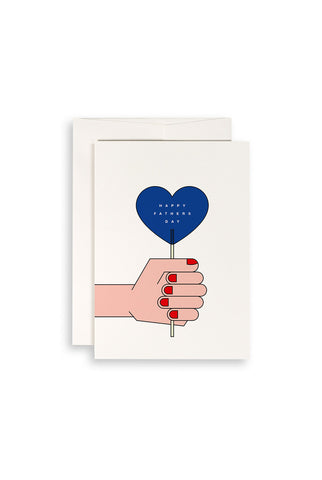 Card - Father's Day Blue Lollipop