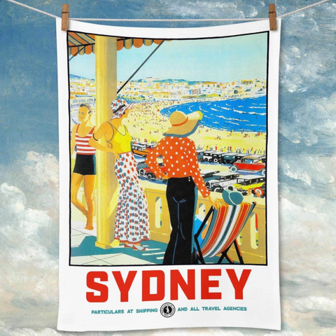 Tea Towel La Brocante Sydney Bondi  Beach