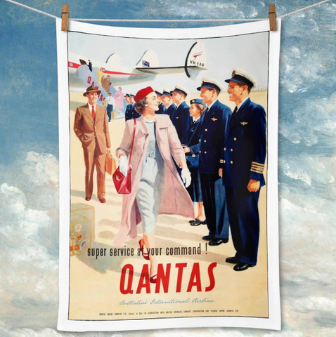 Tea Towel La Brocante Qantas Super Service