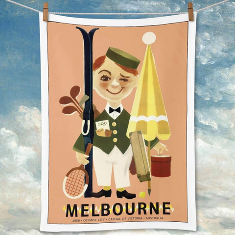 Tea Towel La Brocante Melbourne 1956 Olympics