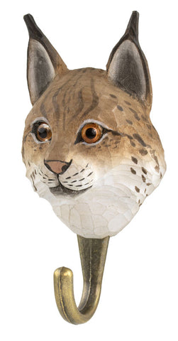 Wildlife Garden Hook - Lynx