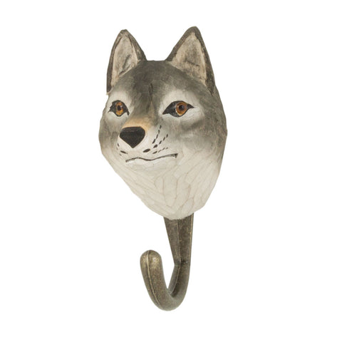 Wildlife Garden Hook - Wolf