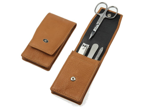 Manicure Set Hans Kniebes Leather 4 Piece