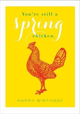 Card - Archivist Spring Chicken