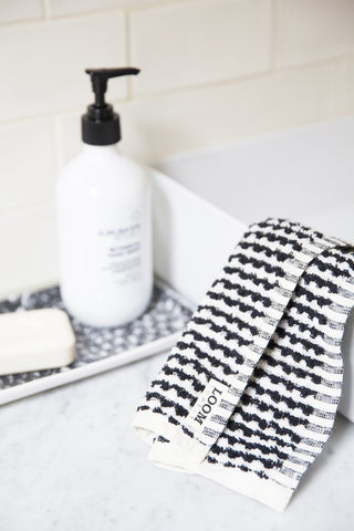 Loom Towels Black and White