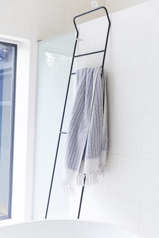 Loom Towels Grey and White