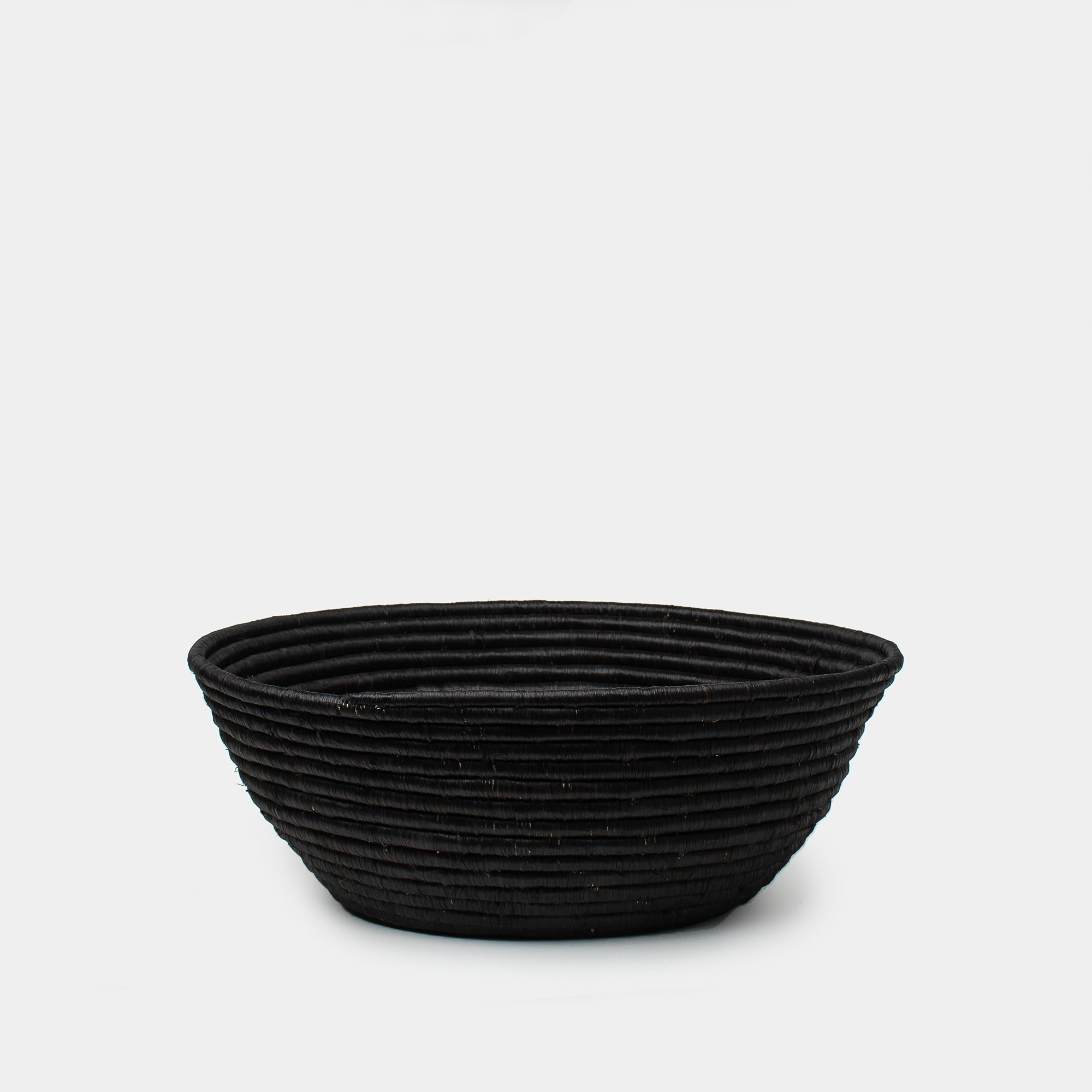 Raffia Basket in Black - Baskets – Shoppe Amber Interiors