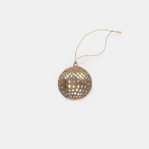 Mirrored Bauble Ornament