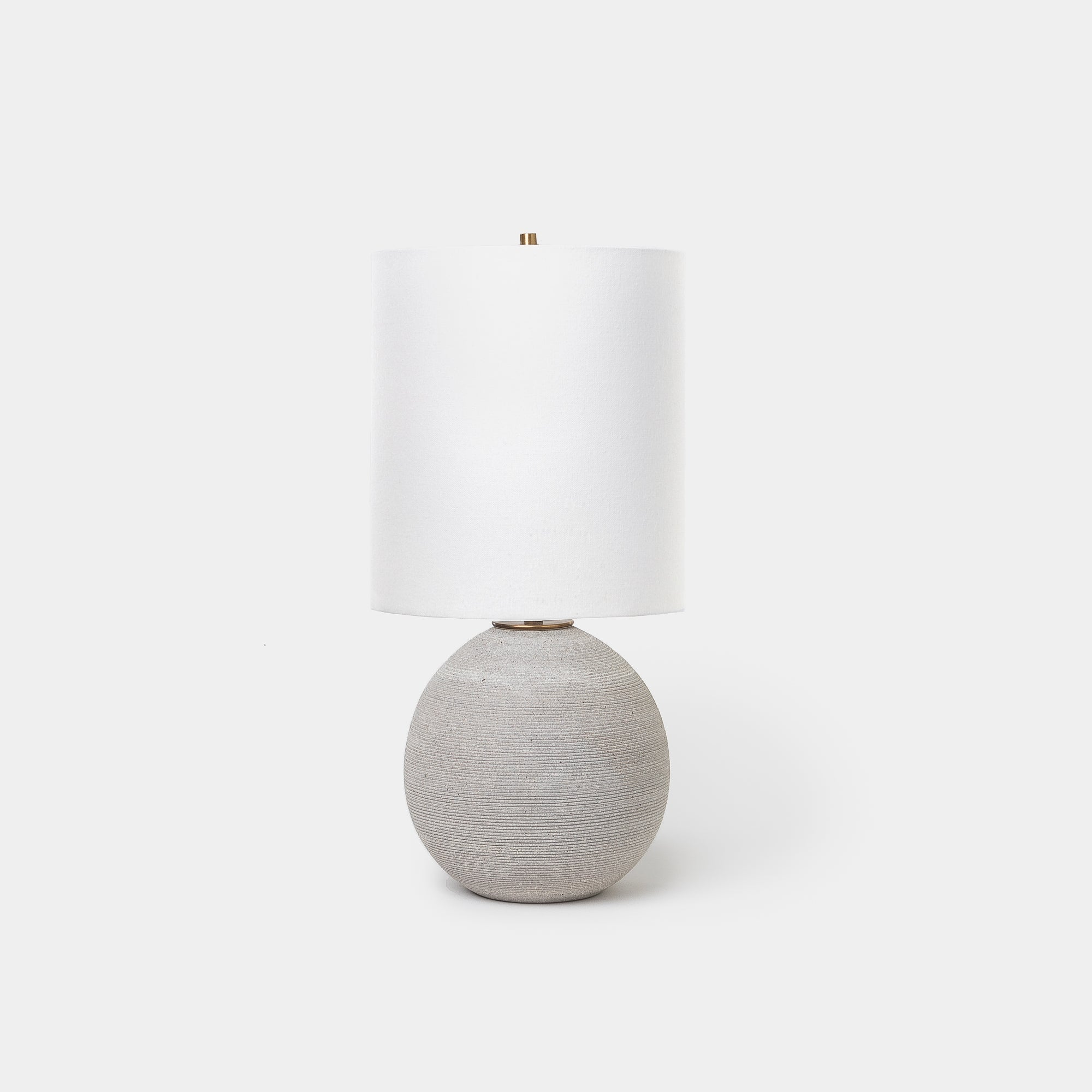 Ribbed Granite Orb Lamp