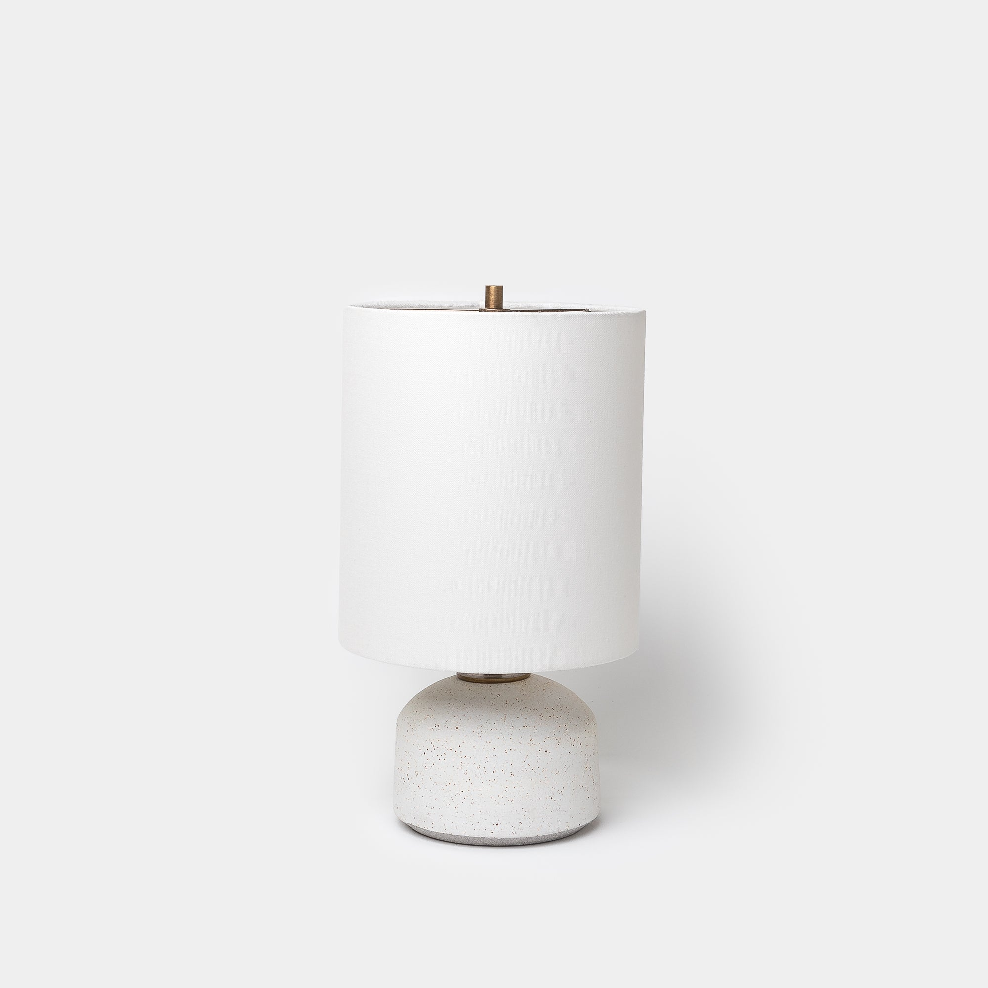 Matte White Speckle Agnes Lamp - Lighting - Designer - Lamps – Shoppe Amber Interiors