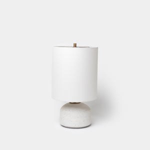 Matte White Speckle Agnes Lamp By Victoria Morris - Lighting - Designer - Lamps – Shoppe Amber Interiors