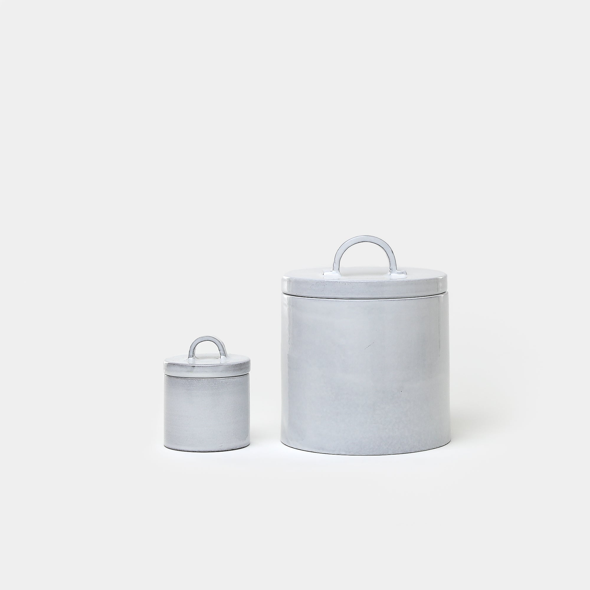 Assisi Medium Canister in Bianco