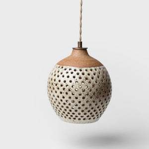 Small Tiny Dot Ceramic Pendant by Heather Levine