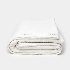 Distressed Cotton Blanket in Natural - Blankets – Shoppe Amber Interiors