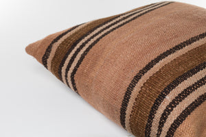 Makun Pillow In Elm Bark & Black Stripes