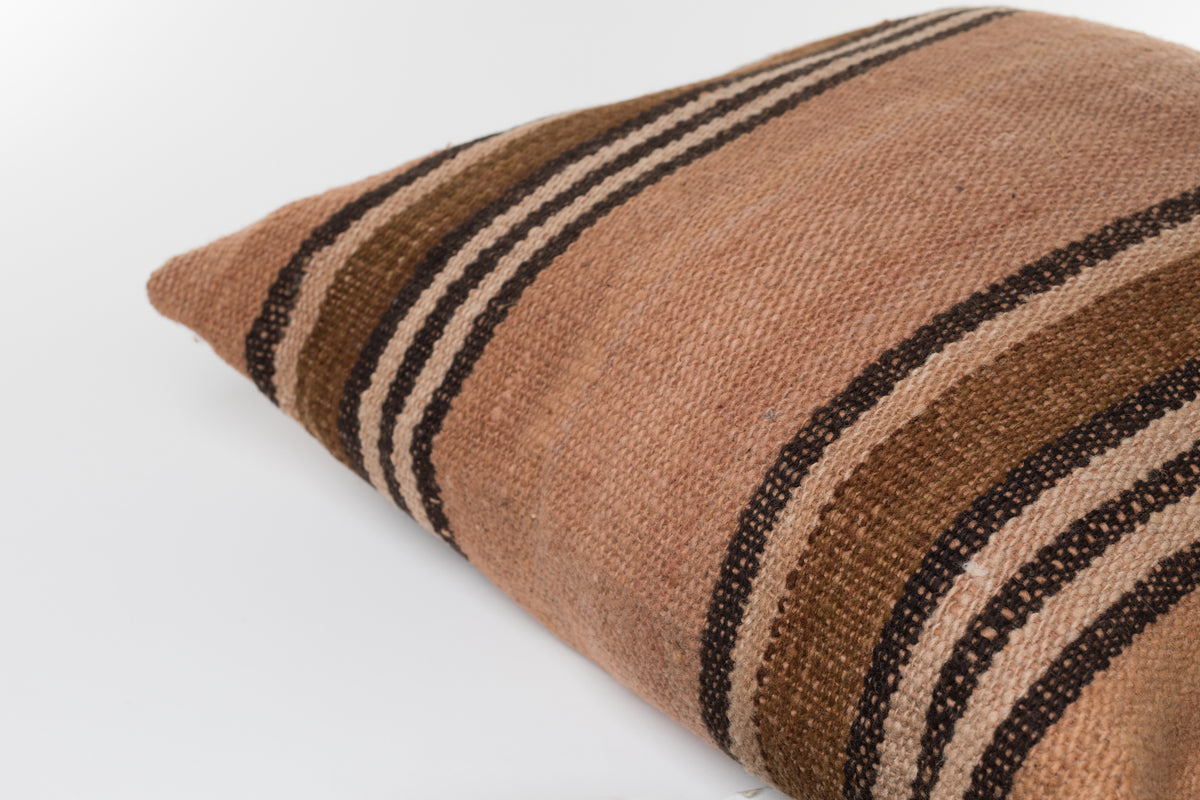 Load image into Gallery viewer, Makun Pillow In Elm Bark & Black Stripes