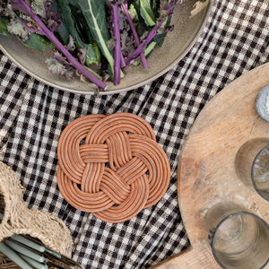 Knotted Leather Trivet