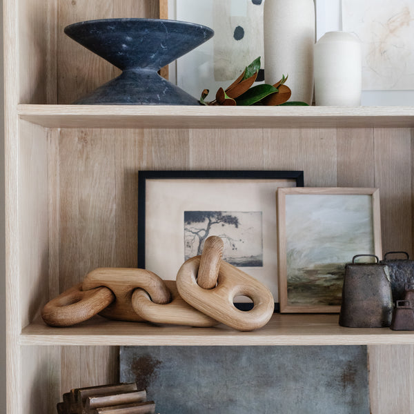Oversized Wood Link Chain - Shoppe Amber Interiors