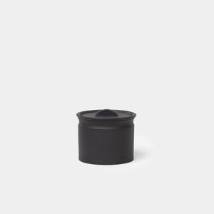 Matte Black Crock Jar