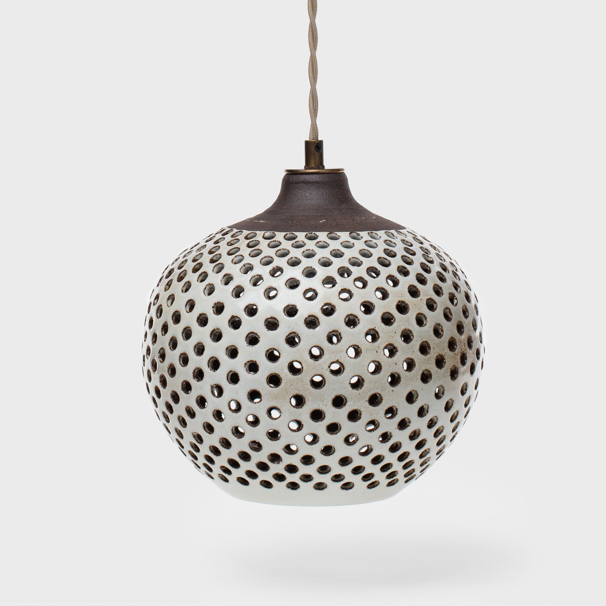 Small Dotted Ceramic Pendant by Heather Levine