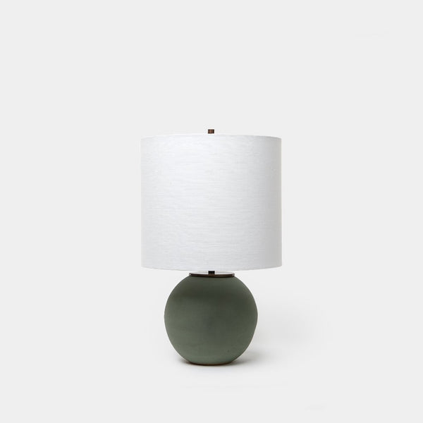 Matte Green Orb Lamp