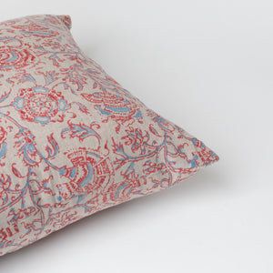 Shenaz Vintage Red and Blue Pillow - Pillows - Designer – Shoppe Amber Interiors