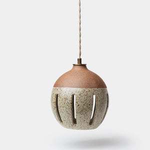 Small Ceramic Pendant by Heather Levine - Lighting - Designer – Shoppe Amber Interiors