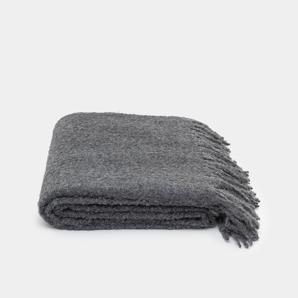 Alpaca Throw - Charcoal - Blankets – Shoppe Amber Interiors