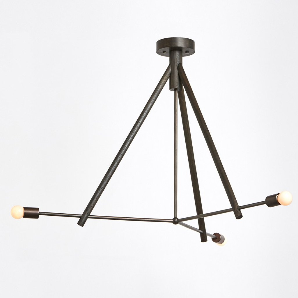 Lodge Chandelier III in Oxidized Oak