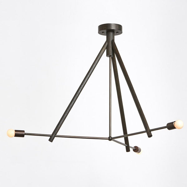 Lodge Chandelier III by Workstead Oxidized Oak
