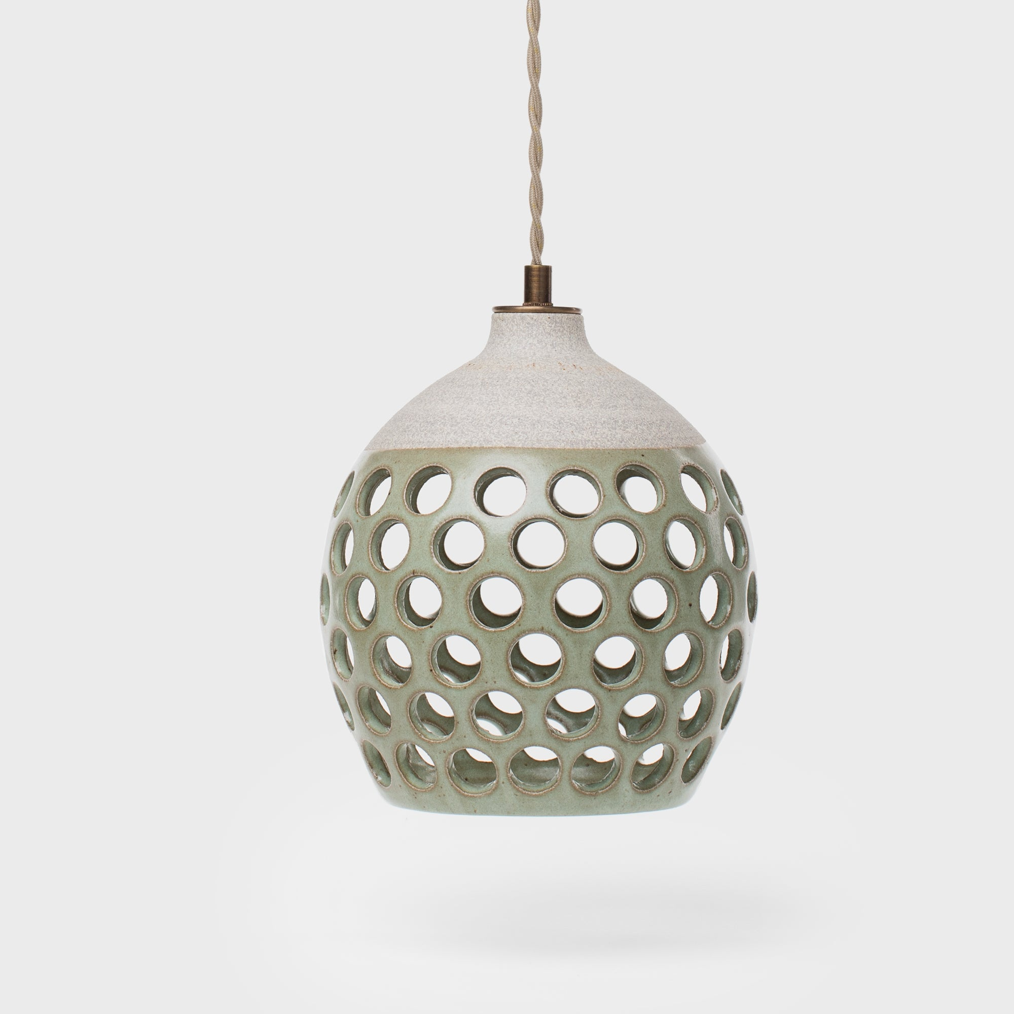 Small Dotted Ceramic Pendant By Heather Levine - Lighting - Designer – Shoppe Amber Interiors
