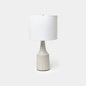 Large White Classic Lamp By Victoria Morris
