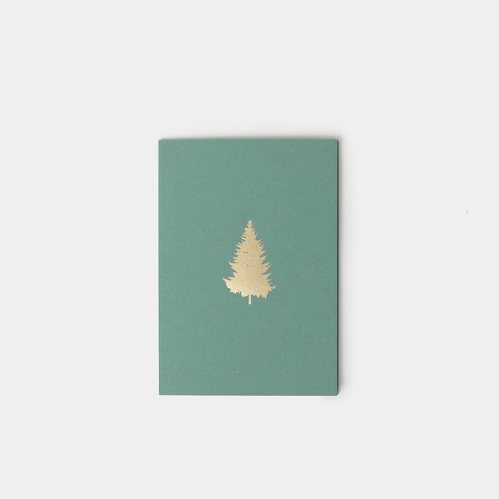 Gold Foil Pine Tree Christmas Card