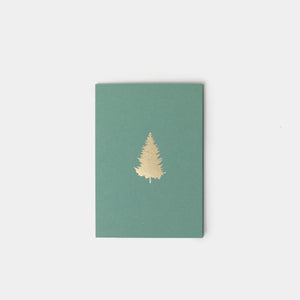 Gold Foil Pine Tree Christmas Card - Greetings Cards – Shoppe Amber Interiors