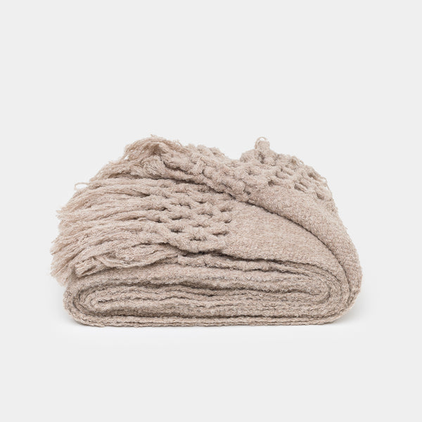 Maya Boucle Throw Oatmeal - Throws – Shoppe Amber Interiors