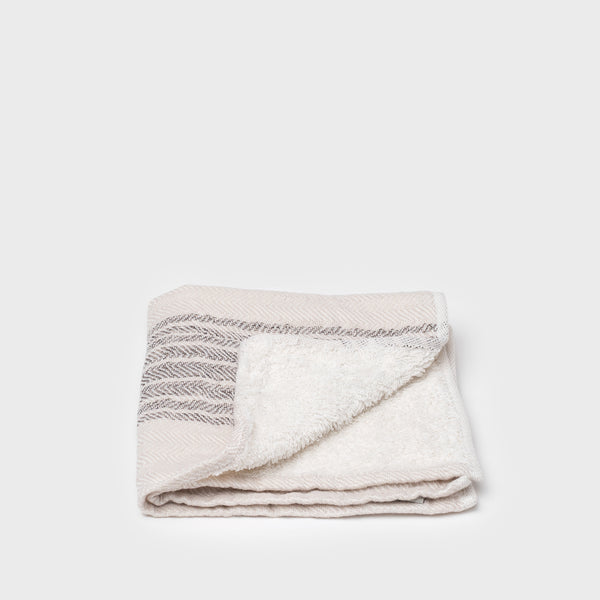 Shoppe Amber Interiors Flax Line Towel Organic Cotton