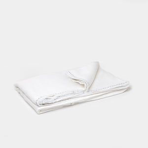Tablecloth Aria White with Black Stitch