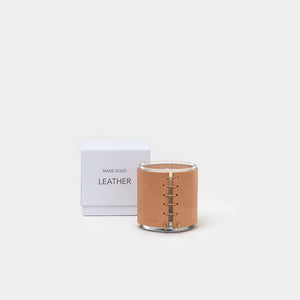 Leather Wrapped Candle - Leather