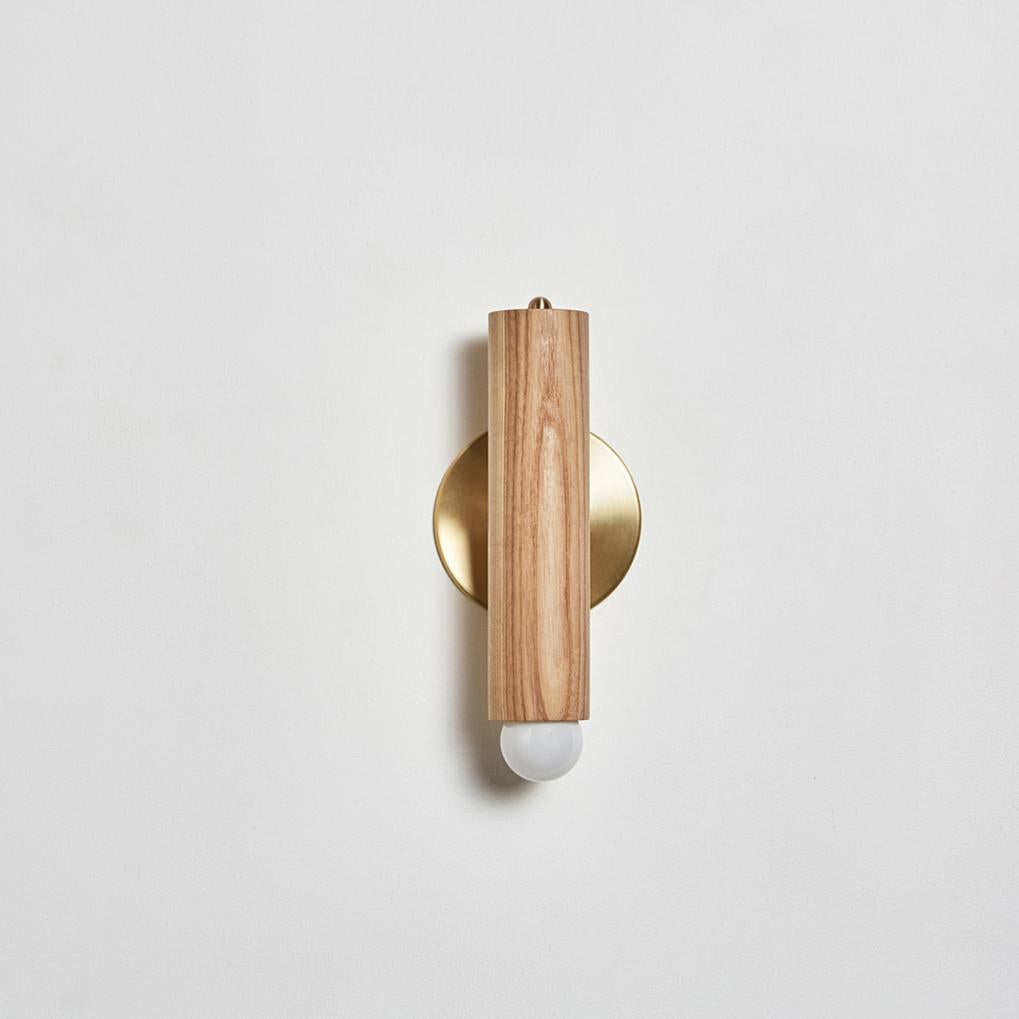 Lodge Sconce in Natural Oak