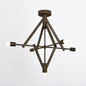 Lodge Chandelier V in Oxidized Oak - Lighting - Designer – Shoppe Amber Interiors