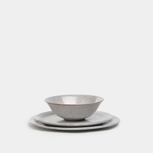 Dinner Plate in Speckled Stone - Kitchen & Dining – Shoppe Amber Interiors
