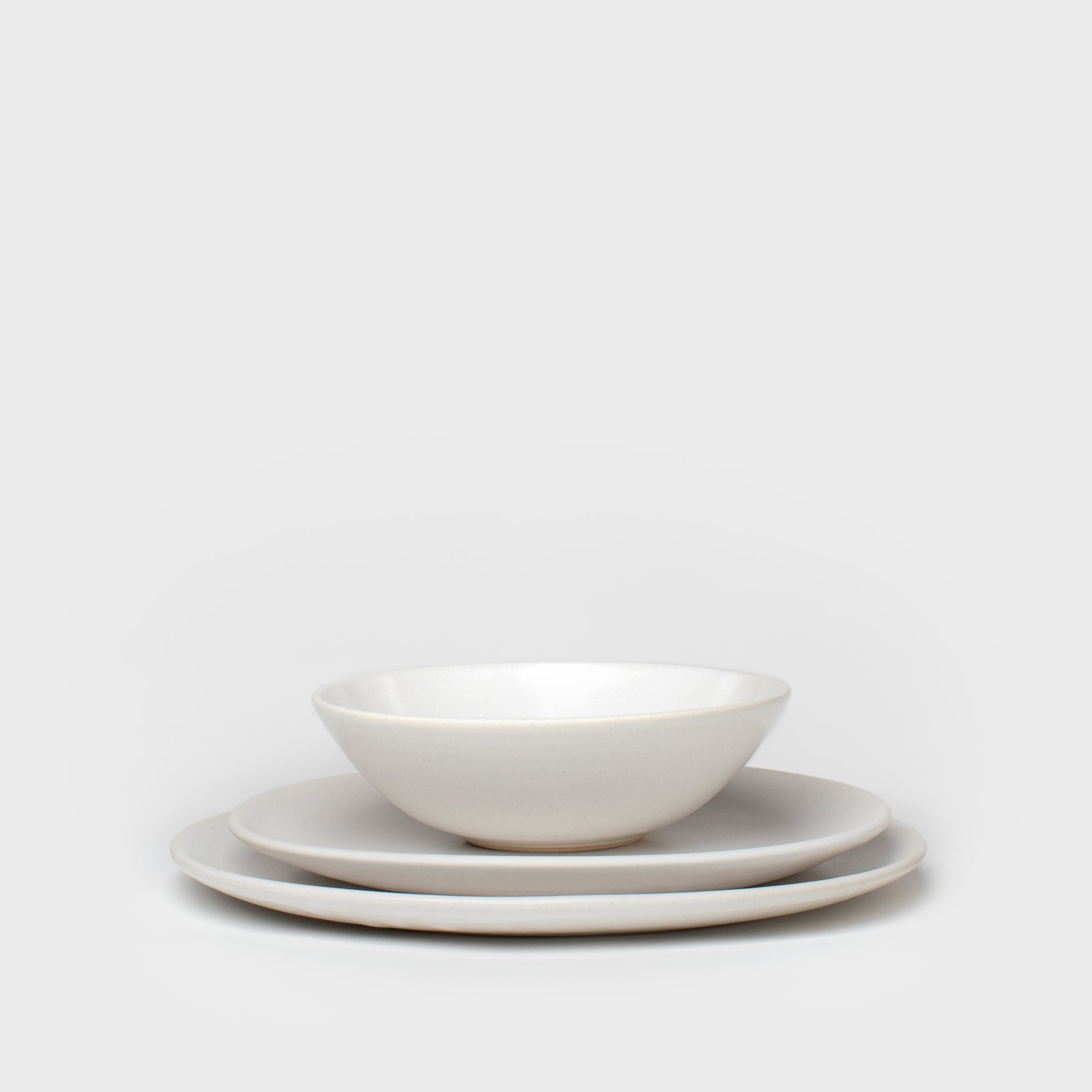 Dinner Plate in White by Meghan Flynn