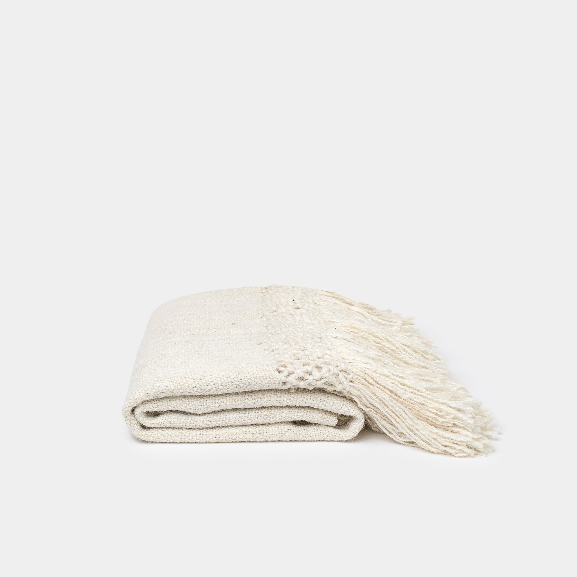 Puna Llama Throw Natural White