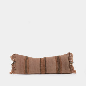 Makun Lumbar Pillow Elm Bark & Black Stripes