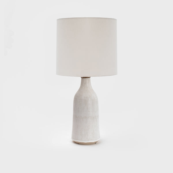 Birch Pinstriped Lamps by Victoria Morris