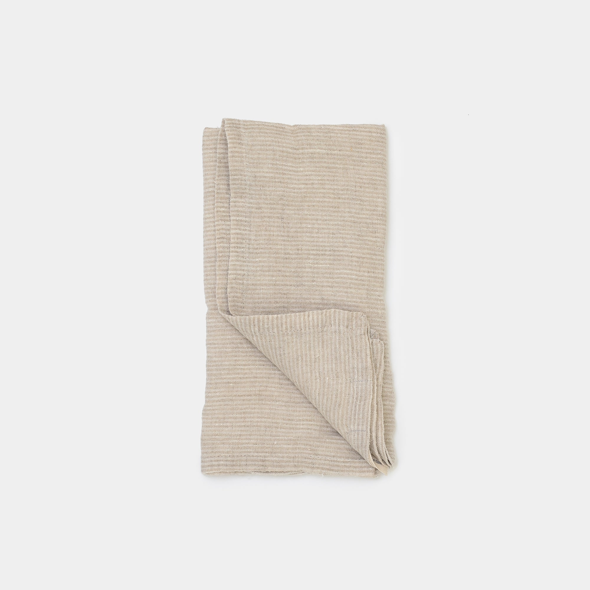 Pico Striped Tea Towel in Ivory