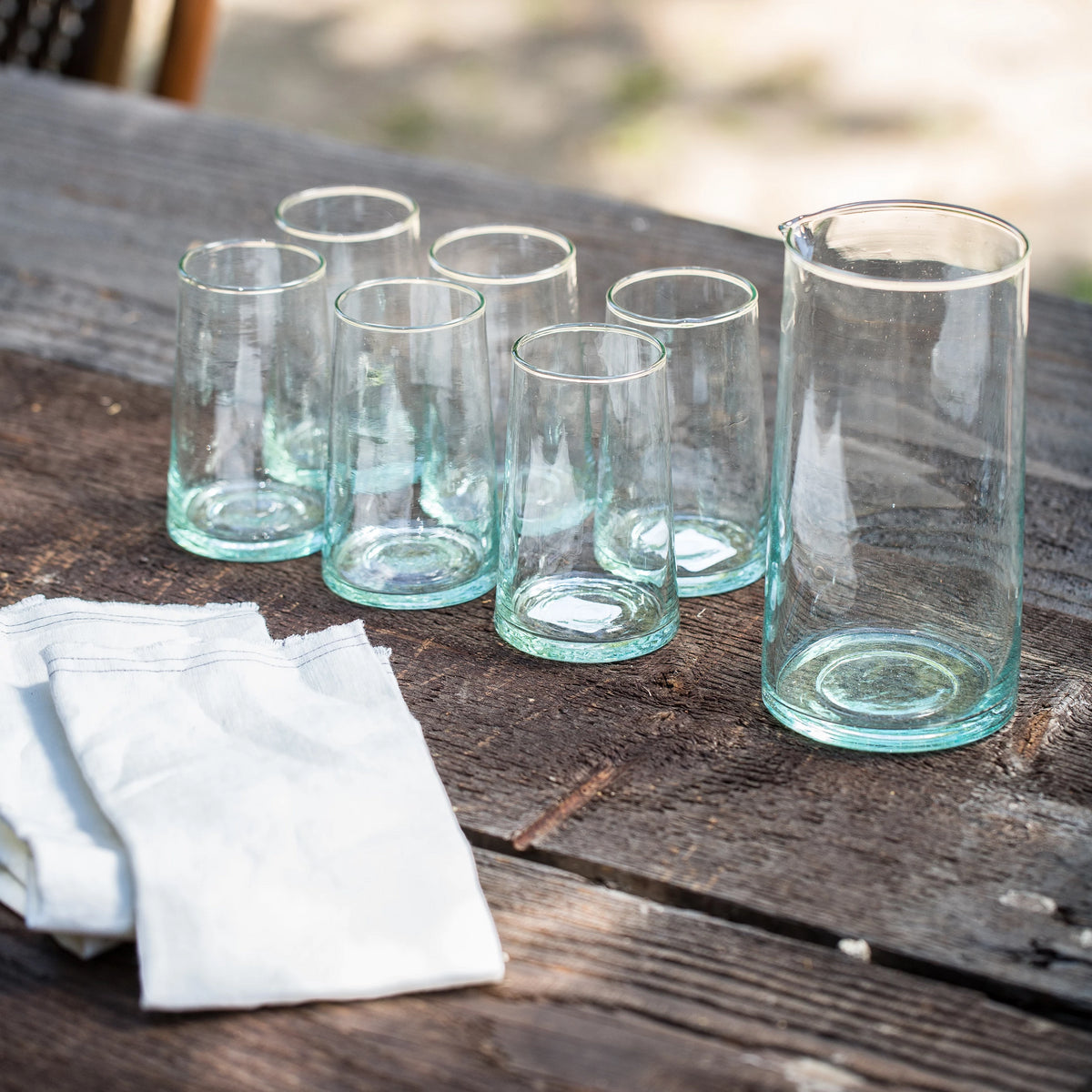 Load image into Gallery viewer, Recycled Glassware Large Tumbler - Glassware – Shoppe Amber Interiors