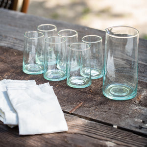 Recycled Glassware Pitcher - Glassware – Shoppe Amber Interiors