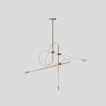 Load image into Gallery viewer, Brass Industrial Chandelier - Lighting - Designer – Shoppe Amber Interiors