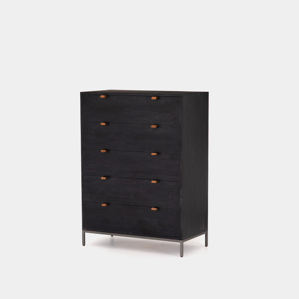Hyperion 5 Drawer Dresser Black Wash